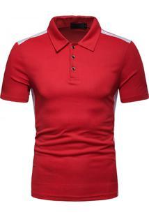 Camisa Polo Vintage School - Vermelho Xg