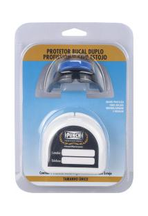 Protetor Bucal Duplo Punch Profissional Com Estojo - Preto