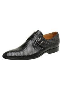 Sapato Social Couro Preto Trançado 60462