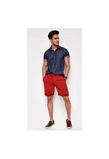 Bermuda Jeans Zait Teodoro Vermelha Vermelho