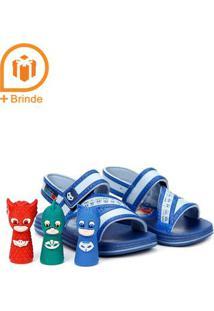 Sandália Infantil Para Bebê Menino - Azul
