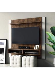Painel Para Tv Até 42 Polegadas Capri Linea Brasil Flex Color Cacau/Off White