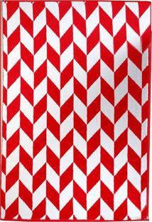 Tapete Andino Geométrico Iii Retangular Polipropileno (50X80) Vermelho