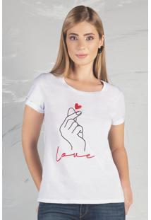 Tshirt Com Estampa Miss Peck Inverno Branco