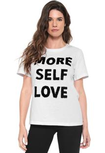 Camiseta Morena Rosa Estampada Pelos Branca