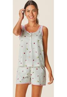 Pijama Bege Frutinhas Em Botonê