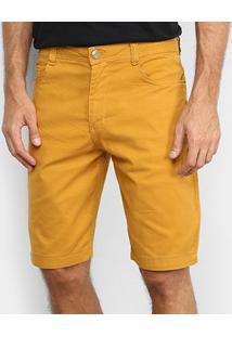 Bermuda Sarja Black River Street Masculina - Masculino-Amarelo