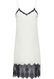 Vestido Seda Slip Dress - Off White