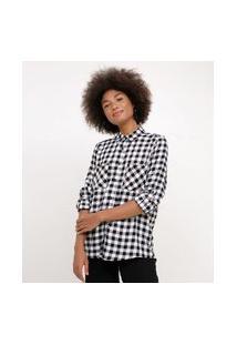 Camisa Xadrez Vichy Flanela | Blue Steel | Preto | P