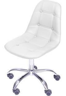 Cadeira Eames Botonãª- Branca & Prateada- 93X47X41Cm