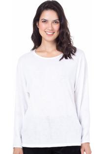 Camiseta Manga Longa Homewear Off White - 589.0718 Marcyn Lingerie Camisetas Off-White