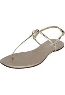 Rasteirinha Dali Shoes T-Strap Basic Feminina - Feminino-Dourado