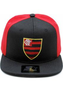 Boné Starter X Flamengo Bicolor Aba Reta Preta Escud. 9eeddbe1226