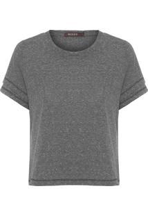 Camiseta Feminina Cropped Basique - Cinza