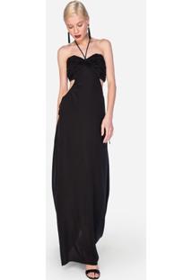 Vestido Amaro De Seda Frente Única - Feminino