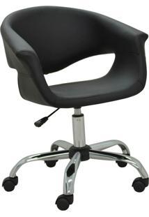 Cadeira Office Base Rodízio Celina-Rivatti - Preto