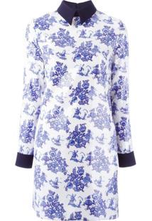 Victoria Victoria Beckham Vestido Com Estampa Floral - Branco