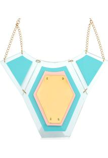 Colar Le Diamond Luxer Turquesa Azul
