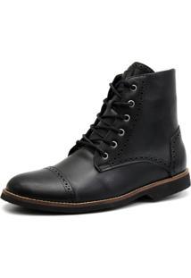 Bota Shoes Grand Londor Preta Tamanho Grande - Kanui