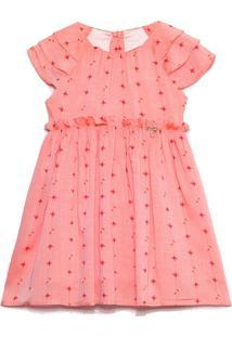 Vestido Cacau Baby Passos Grace Flores Coral