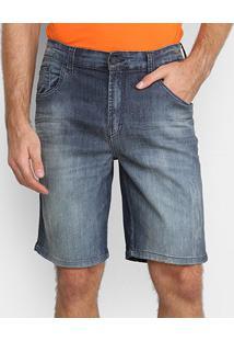 Bermuda Jeans Ellus 2Nd Floor Lake Elastic Adam Masculina - Masculino-Azul