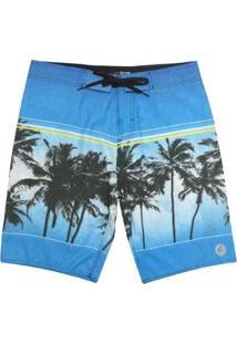 Bermuda Boardshort Wss Waves Tropical 20 Masculina - Masculino-Azul