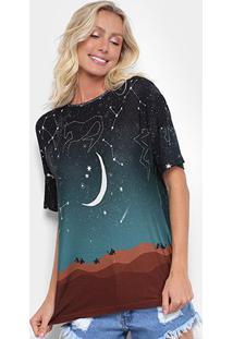 Camiseta Cantão Noite Estrelada Feminina - Feminino