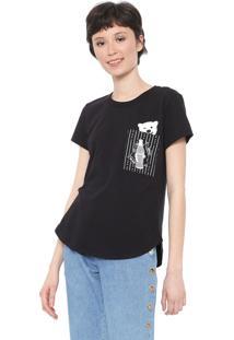 Camiseta Coca-Cola Jeans Bolso Preta