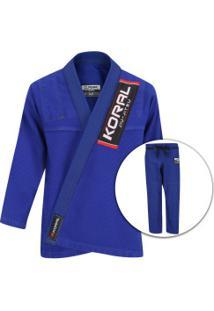 Kimono Jiu-Jitsu Koral Classic Slim Fit - Adulto - Azul