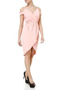 Vestido Curto Feminino Autentique Rosa