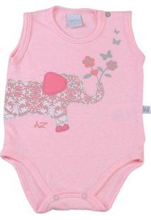 Body Bebê Cotton Lycra Botonê Elefantinho - Feminino