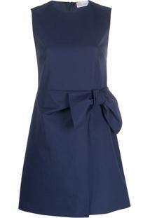 Redvalentino Vestido Sem Mangas Com Aplicação De Laço - Azul