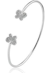 Bracelete Estelle Semijoias Zircônias Borboleta Feminino - Feminino