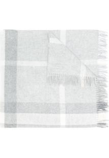 Burberry Kids Cobertor De Cashmere Xadrez - Grey