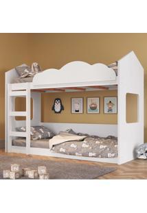 Beliche Infantil Casinha Com Escada E De Quedas - Branco - Dafiti
