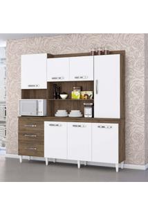 Cozinha Compacta Mirela 7 Pt 3 Gv Dakota E Branco