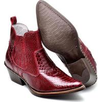 65224f259 Bota Couro Country Top Franca Shoes Masculino - Masculino-Vermelho