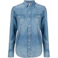 9411a59012d44 Farfetch. Polo Ralph Lauren Camisa Jeans Mangas Longas - Azul