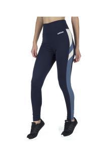 Calça Legging Adidas Em Tight - Feminina - Azul Escuro
