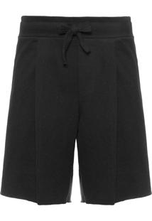 Bermuda Masculina E-Fabrics Rustic Over Pleat - Preto