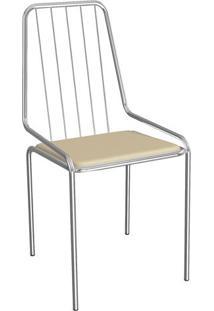 Cadeira Benim Cromada Nude 1C082Cr-16 Crome