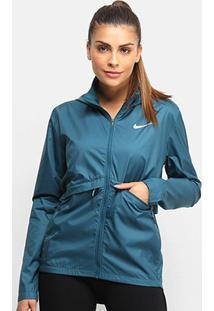 Jaqueta Nike Essential Hd Com Capuz Feminina - Feminino-Azul+Prata