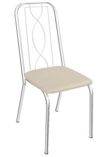 Cadeira Kappesberg Viena 2C072Cr (2 Unidades) Cromada/Nude