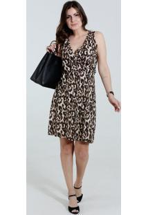 Vestido Feminino Estampa Animal Print Onça Marisa