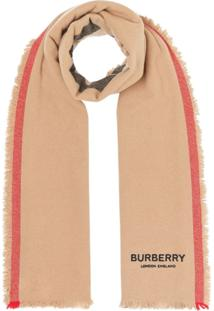 Burberry Cachecol Listrado Icon - Neutro