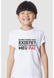 Camiseta Infantil Super Pai Reserva Mini Masculina - Masculino