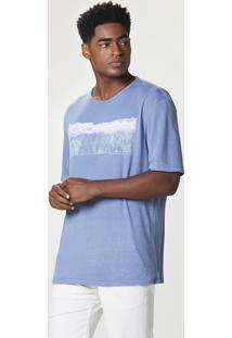 Camiseta Masculina Com Linho Manga Curta