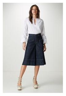 Bermuda Cropped Ruffle Azul Denim