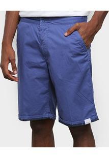 Bermuda Sarja Gajang Básica Masculina - Masculino-Azul