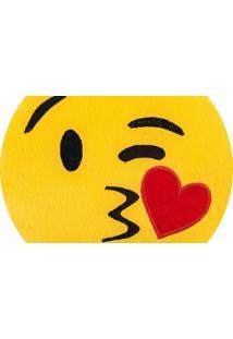 Almofada Capital Do Enxoval Emoji Enviando Beijo Estampado